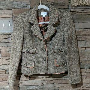 4/$25    Loft wool-blend coat size 0P